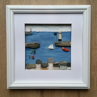 Cornish Harbour Scene, Mevagissey, Cornwall, Sea Pottery Art