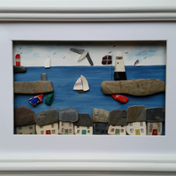 Cornish harbour Scene, Mevagissey, Cornwall, Unique Gift Ideas
