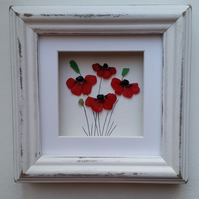 Stained Glass Poppies, Sea Glass Poppies, Mosaics Poppy Pictures, Mother's Day