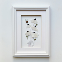Sea Glass Flowers, White Daisies, Unusual Gifts for Women, Quirky Gift Ideas