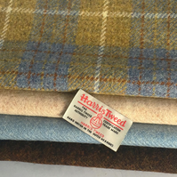 HARRIS TWEED FABRIC BUNDLE AND LABELS, IDEAL FOR CRAFT AND SEWING