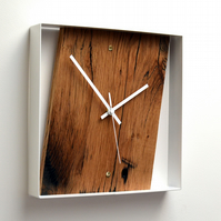 RECLAIMED FRENCH OAK WALL CLOCK