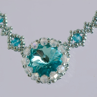 Aqua Crystal Necklace
