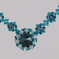 Montana Blue Crystal Necklace