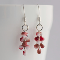 Red Wine Drop Earrings - Pretty Cascade Earrings