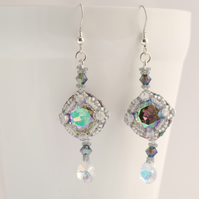 Vintage Style Rainbow Crystal Earrings