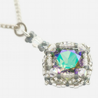 Vintage Style Crystal Pendant on a Sterling Silver Chain
