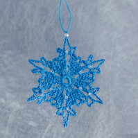 Snowflake Decoration with Swarovski Crystals