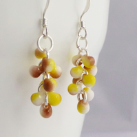 Mustard Yellow Cascade Earrings