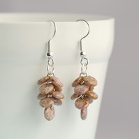 Lilac Lustre Cascade Earrings