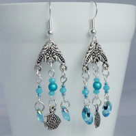 Fish Dangle Earrings - Turquoise Summer Jewellery