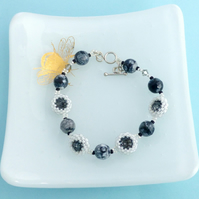 Swarovski Crystal and Agate Bracelet
