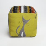 Cat cube pincushion
