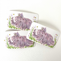 Guinea pig stickers set of 3