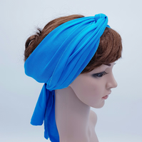 Long stretchy headband, self tie hair scarf, viscose jersey head scarf for women
