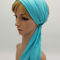 Lightweight stretchy headscarf, viscose jersey hair scarf for women, headband