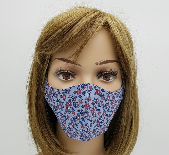 Cotton face mask, reusable face cover, washable face masks, protective mask
