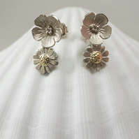 butter cup and daisy stud earrings