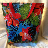 Large vinyl Tote or beach bag