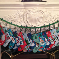 Stocking Advent Bunting