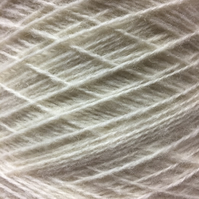 Shetland x Romney Lambswool White Weaving Yarn