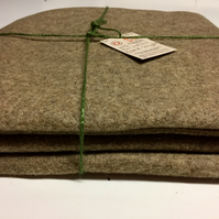 Pure British Shetland Wool Felt for Crafts (1 square metre)