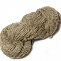 Undyed Pure Wool Lopi Yarn – Natural Coloured Beige – 100g Hank