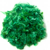 Bright Green Hand Dyed Soft British Lambs Wool (50g)