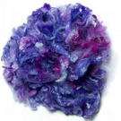 Blue Purple Hand Dyed Soft British Lambs Wool (50g)