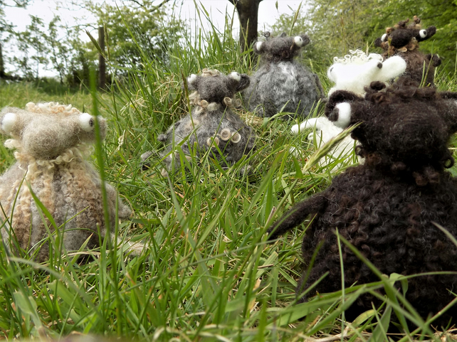 SHEEP - needle felted friends