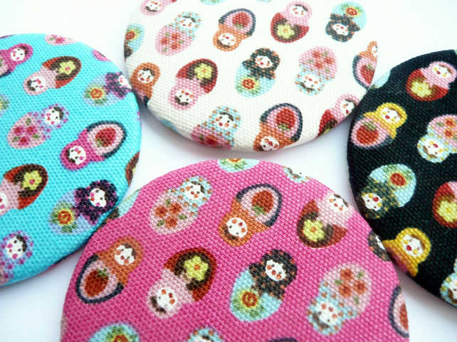 Russian Doll Fabric Handbag Mirror x1