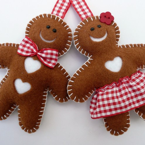 Mr & Mrs Gingerbread Felt Decorations  Folksy. Padded Dining Room Chairs. Pink Table Decorations. Phone Decorating App. Interior Decorating Schools Nyc. How To Decorate A China Cabinet. Outdoor Party Decorating Ideas. Living Room Sectionals For Sale. Traditional Living Room Design