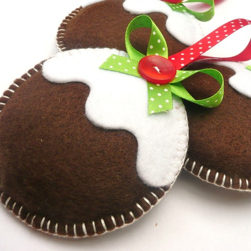 Figgy Puddings Trio - Christmas Decorations