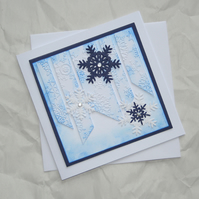 Icicles - Handcrafted Christmas Card - dr15-0005