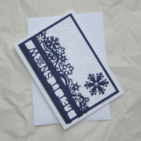 Let It Snow - Handcrafted Christmas Card - dr15-0007