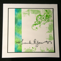 Sea of Thanks - Handcrafted Thank You Card - dr16-0009