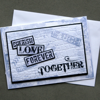 The Together Wall - Handcrafted Anniversary Card - dr16-0015