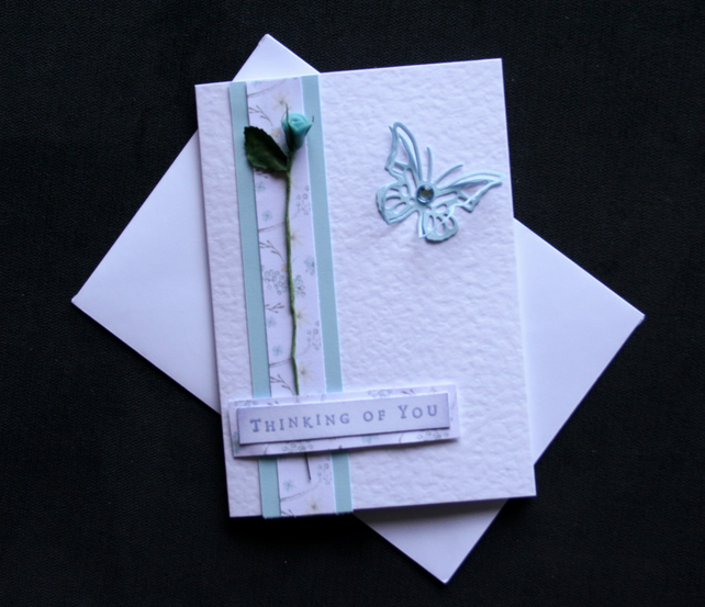 Thinking Of You - Handcrafted Sympathy Card - dr16-0012
