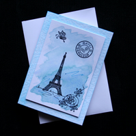 Merci Beaucoup - Handcrafted Thank You Card - dr16-0003