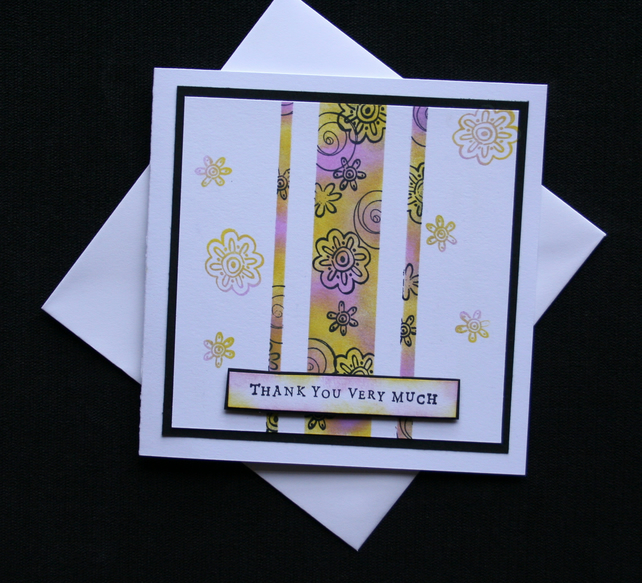 Thank You Very Much - Handcrafted Thank You Card - dr16-0006