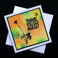 Thank You So  Much - Handcrafted Thank You Card - dr16-0037