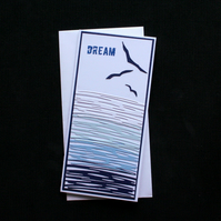Dream - Handcrafted (blank) Card - dr16-0045