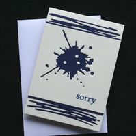Blot -  Handcrafted Sorry Card - dr16-0043