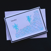 Beautiful - Handcrafted (blank) Card - dr16-0072
