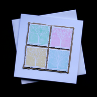 Pastel Seasons - Handcrafted (blank) Card - dr16-0073