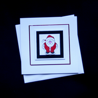 Santa - Handcrafted Christmas Card - dr16-0077