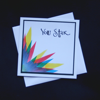 You Star - handcrafted (blank) Card - dr16-0075