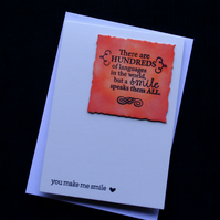 Multilingual Smiles - Handcrafted (Blank) Card - dr17-0008