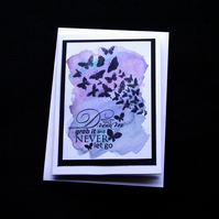 Butterfly Dreams - Handcrafted (Blank) Card - dr17-0024