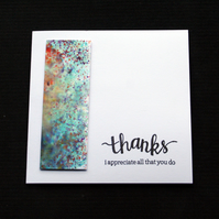 Appreciative Thanks - Handcrafted Thank You Card - dr17-0034